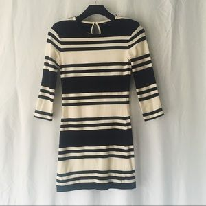 French Connection Black and White Striped Dress